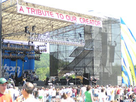 A view of the main stage.