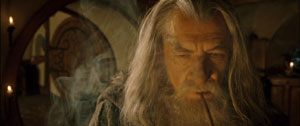 Gandalf thinks about what he hears.