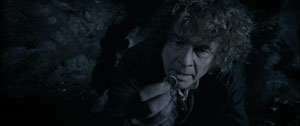 Bilbo finds a ring.
